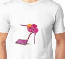 Pink Satin Rose Sandal Unisex T-Shirt