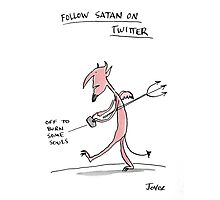 the devils twitter  Photographic Print