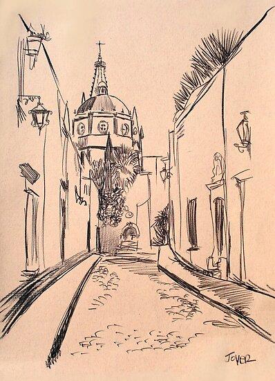 street scene study  by Loui  Jover