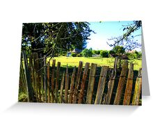 Fenced - View to Ackerman's Cottage - Hill End Greeting Card