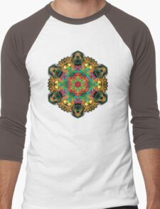 Fractal Mandala Men's Baseball ¾ T-Shirt