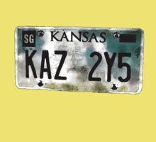 Supernatural Impala Kansas Plate Kids Tee