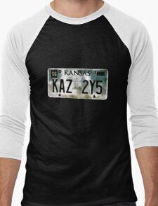 Supernatural Impala Kansas Plate Men's Baseball ¾ T-Shirt