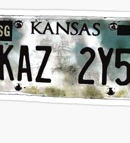 Supernatural Impala Kansas Plate Sticker