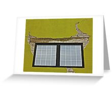 Stucco and Squares Greeting Card