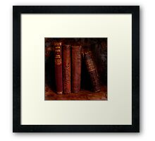 Old Red Books Framed Print