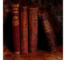 Old Red Books Photographic Print