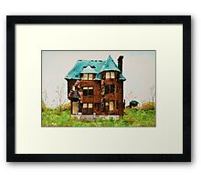 Abandonded House in Detroit Framed Print
