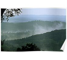 Low Clouds in the Mountains Poster
