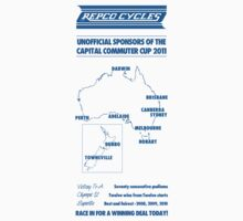 """Repco """"Commuter Cup"""" Sponsors t-shirt by munga"""