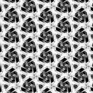 Sharp Silver Geometric Pattern by webgrrl