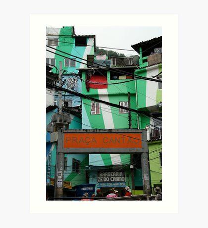 Favela entrance, Brazil Art Print