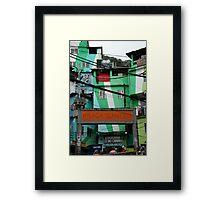Favela entrance, Brazil Framed Print