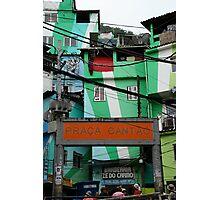 Favela entrance, Brazil Photographic Print