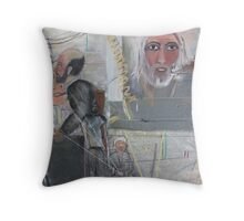 Dark and Grey Ages Throw Pillow