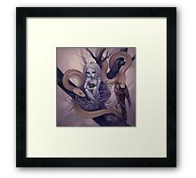 snake child Framed Print