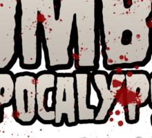 The Zombie Apocalypse Sticker