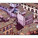Rooftops Of Florence by prbimages