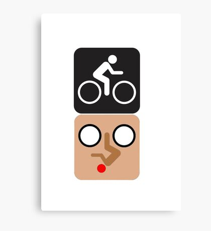 Bicycle Face! Canvas Print