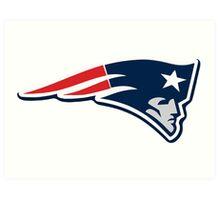 Patriots Logo Weathered Art Print