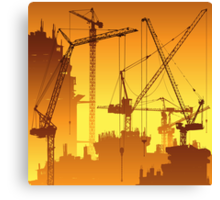 Tower Cranes Canvas Print