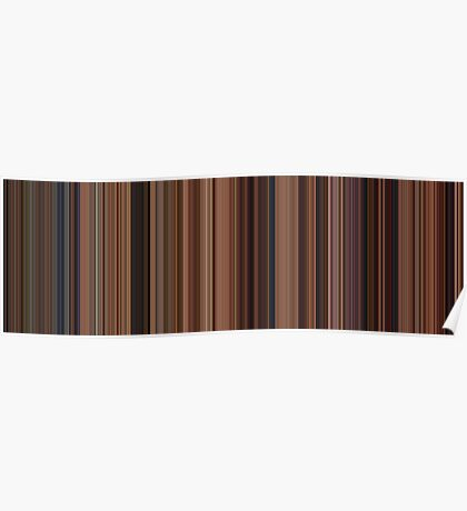 Moviebarcode: Ratatouille (2007) [Simplified Colors] Poster