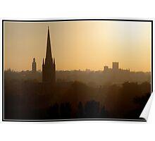 Dreaming Spire Sunset Poster