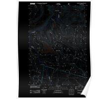 USGS Topo Map Oregon Wapinitia Pass 20110809 TM Inverted Poster