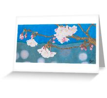 spring blossoms colored pencils drawing Greeting Card