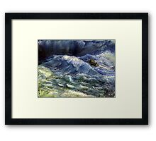 The power wave Framed Print