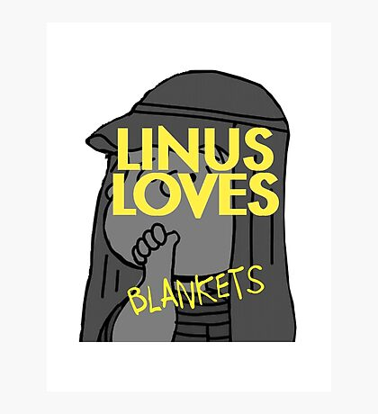 Linus Loves Blankets Photographic Print
