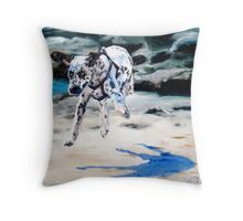 Cleo flying Throw Pillow