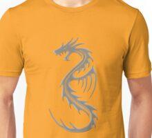 Tribal Dragon Gris Unisex T-Shirt