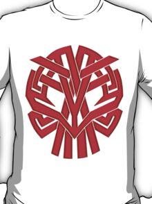Tribal Skull Rojo T-Shirt