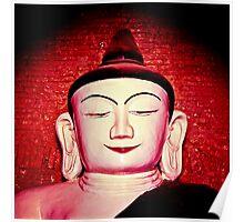 Buddha statue in Bagan, Burma Poster