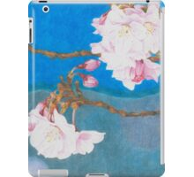 spring blossoms colored pencils drawing iPad Case/Skin