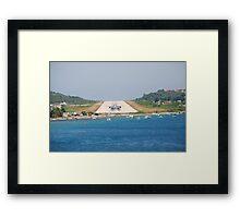 Skiathos airport, Greece Framed Print