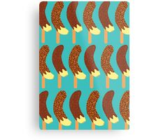 Chocolate Bananas with Nuts and Sprinkles Metal Print