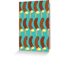Chocolate Bananas with Nuts and Sprinkles Greeting Card