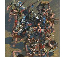 battle scene by David  Kennett