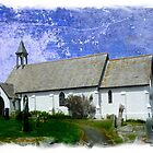 Coverack Church in Art by hootonles