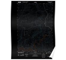 USGS Topo Map Oregon Eagle Rock 20110825 TM Inverted Poster