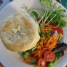 Vegetable Pot Roast Pie and Salad by zoolou