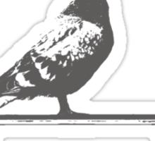 pigeon on deck Sticker