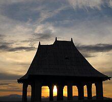 Sunset through Gazebo - North Carolina by Glenn Cecero