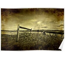 Barbed Wire Fence Poster