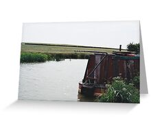 Barge on the canal Greeting Card