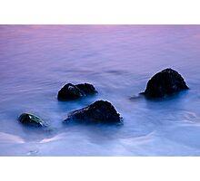 Stones in sea water Photographic Print