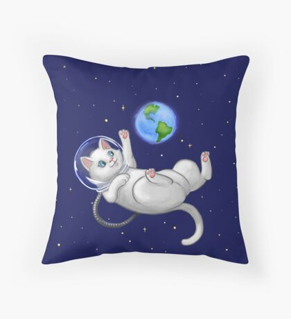 Are you there world? Its me, Kitteh Throw Pillow