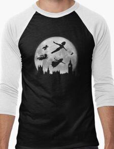 Full Moon over London Men's Baseball ¾ T-Shirt